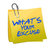 What's your excuse illustration design Stock Images