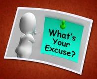 What's Your Excuse Photo Means Explain Procrastination Stock Image