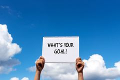 What`s your goal quotes royalty free stock images