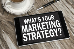 What's your marketing strategy Stock Image