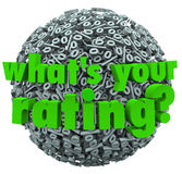 What's Your Rating Percent Sign Score Percentage vector illustration