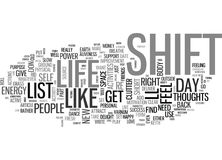 What S On Your Shift Listword Cloud Royalty Free Stock Photo