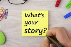 What`s your story concept Royalty Free Stock Photos