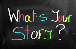 What's Your Story Concept Royalty Free Stock Image