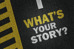 what's your story? royalty free illustration