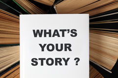 What's your story?'s book Stock Photos