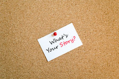 What's your story text concept Royalty Free Stock Image