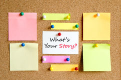 What's your story text concept Stock Photo