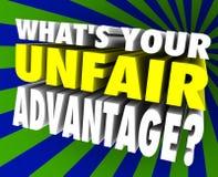 Free What S Your Unfair Advantage Words Unique Winning Edge Royalty Free Stock Photos - 44341848