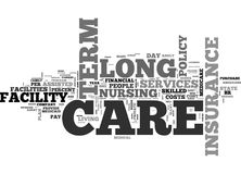 What Senior Citizens Need To Know About Private Long Term Care Insurance Word Cloud Stock Image