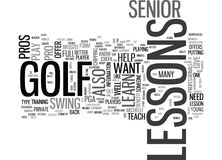 What Senior Golf Pros Still Give Lessons Word Cloud Royalty Free Stock Photo