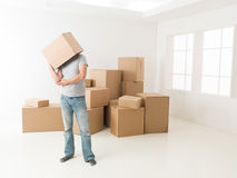 What should i do with all these boxes Royalty Free Stock Image