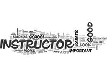 What Should I Look For In A Good Karate School Or Instructor Word Cloud Stock Photo