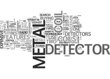 What Should I Look For In A Metal Detector Word Cloud Stock Photos