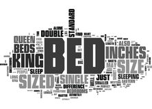 What Size Of Bed Is Good For You Word Cloud Royalty Free Stock Photography