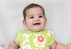 What a Smile !!!. What a smile from this baby girl Stock Photography