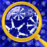 What is in snowflakes Stock Photos