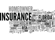 What Is In A South Florida Homeowner S Insurance Word Cloud Stock Photos