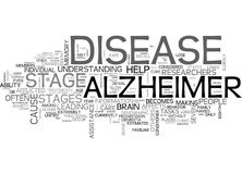 What Are The Stages Of Alzheimer S Diseaseword Cloud Royalty Free Stock Photo