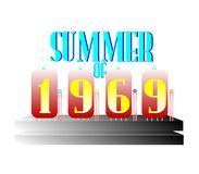 What a summer of 1969 concept Royalty Free Stock Photos