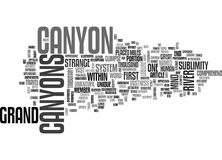 What Then Is This Grand Canyon Word Cloud Stock Photos