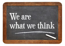 We are what we think Royalty Free Stock Photo