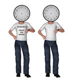 What Time Clock Face Looking Checking Illustration. You can input your own words on the white shirt as well as the time Royalty Free Stock Photography