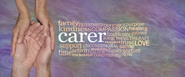 What it is to be a Carer Word Cloud Stock Photography