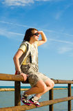 What is to come. Teen looking out towards the horizon, a future concept Royalty Free Stock Images