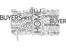 What To Do If A Buyer Has To Sell His House Firstword Cloud Royalty Free Stock Images