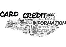 What To Do If Credit Card Is Stolen Let Common Sense Guideword Cloud. WHAT TO DO IF CREDIT CARD IS STOLEN LET COMMON SENSE GUIDE TEXT WORD CLOUD CONCEPT stock illustration