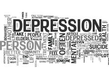 What To Do If A Loved One Seems Depressed Word Cloud Stock Photography