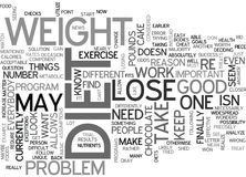 What To Do If You Cant Lose Weight Change It Up Word Cloud royalty free illustration