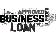 What To Do If Your Business Loan Is Not Approved Word Cloud Stock Photo