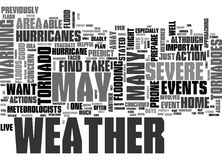 What To Do When Severe Weather Strikes Word Cloud Royalty Free Stock Photo