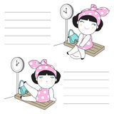 What To Do While Waiting For You Charsacter Paper Note illustrat Stock Photography