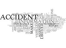 What To Do When You Re In A Car Accident Word Cloud Royalty Free Stock Photo