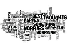 What To Do When Your Fears And Worries Overwhelm You Word Cloud Stock Photo