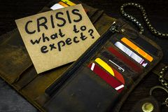 What to expect from the economy in times of crisis Royalty Free Stock Photo