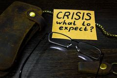 What to expect from the economy in times of crisis Stock Photo