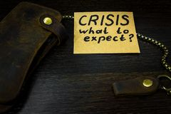 What to expect from the economy in times of crisis Stock Photography