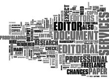 What To Expect From Editorial Services Word Cloud Stock Photography