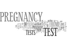 What To Expect From A Home Pregnancy Test Word Cloud Royalty Free Stock Photo