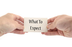 What to expect text concept Royalty Free Stock Image