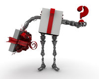 What to gift? The concept of selecting a gift Stock Photos