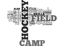 What To Know About Field Hockey Camp Word Cloud Stock Photo
