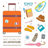 What to pack for an adventure Royalty Free Stock Photo