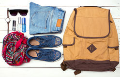What to Pack in Your Carry On Bag Stock Photos
