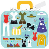 The suitcase holidays Stock Images
