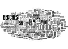 What To See And Do When You Travel To Florida Word Cloud Royalty Free Stock Photography